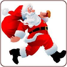 père Noël qui court